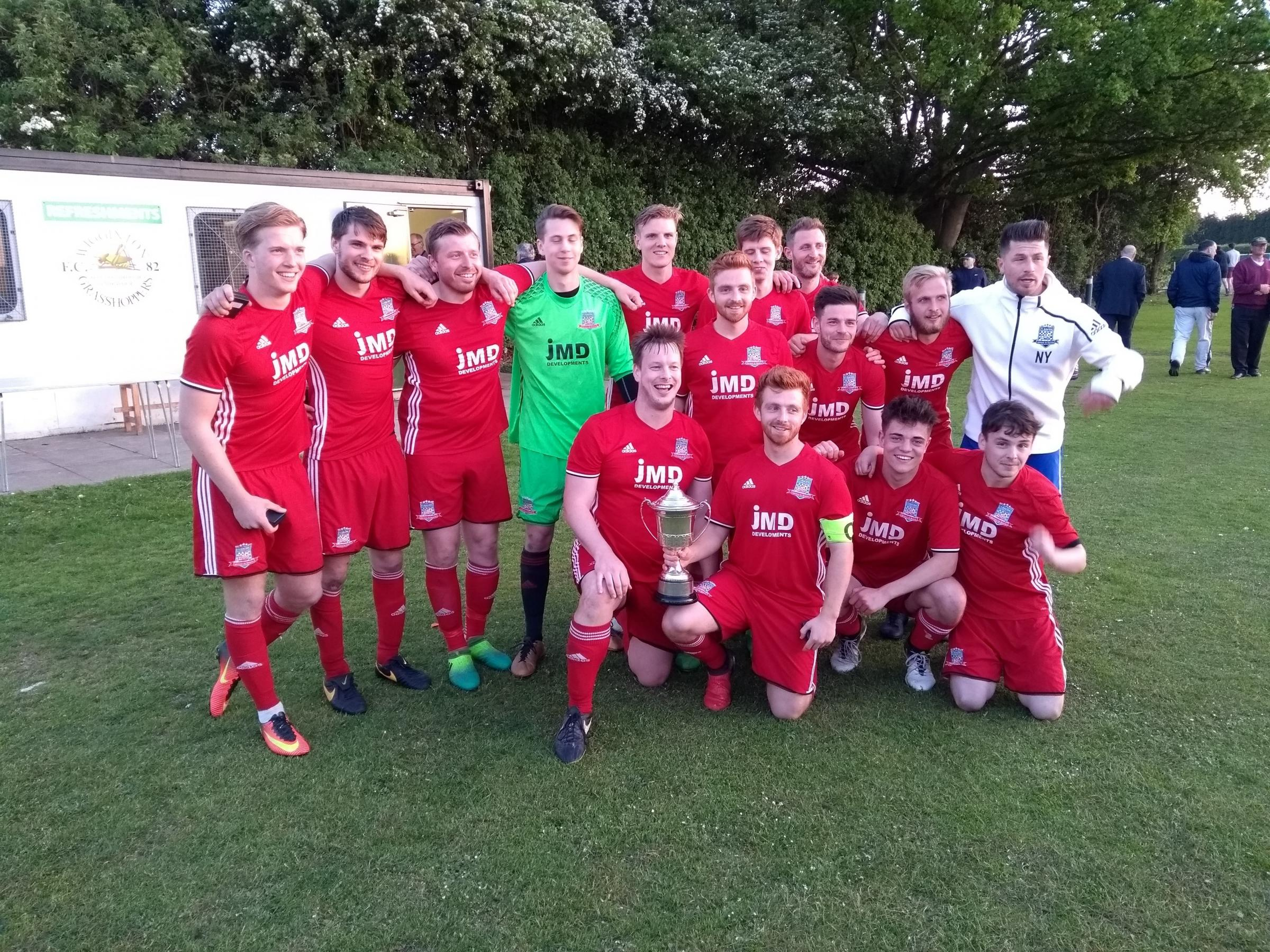 SPOT ON: F1 Racing Reserves won their first-ever cup by beating their Thorpe United counterparts on penalties