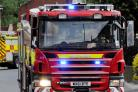 A caravan has been destriyed by fire in York