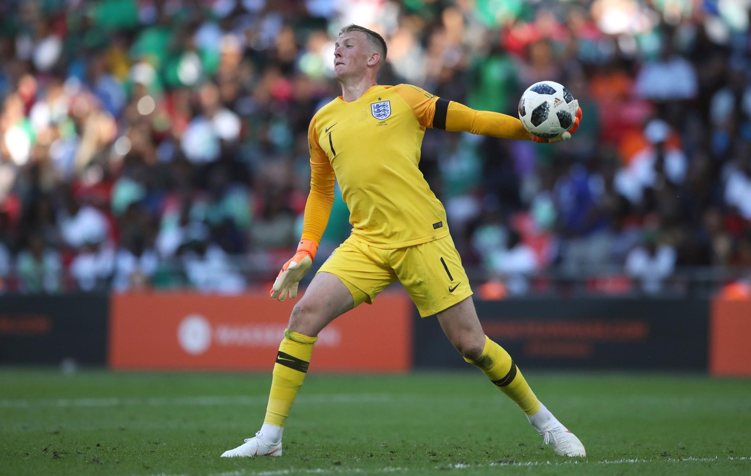 Jordan Pickford appears to have won the race to be England's first-choice goalkeeper at the World Cup