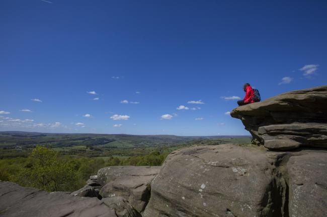Taking in the view at Brimham Rocks, North Yorkshire