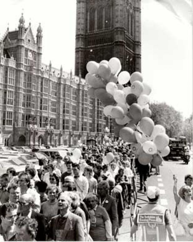 FLASHBACK: Rowntree workers lobby the Houses of Parliament in 1988