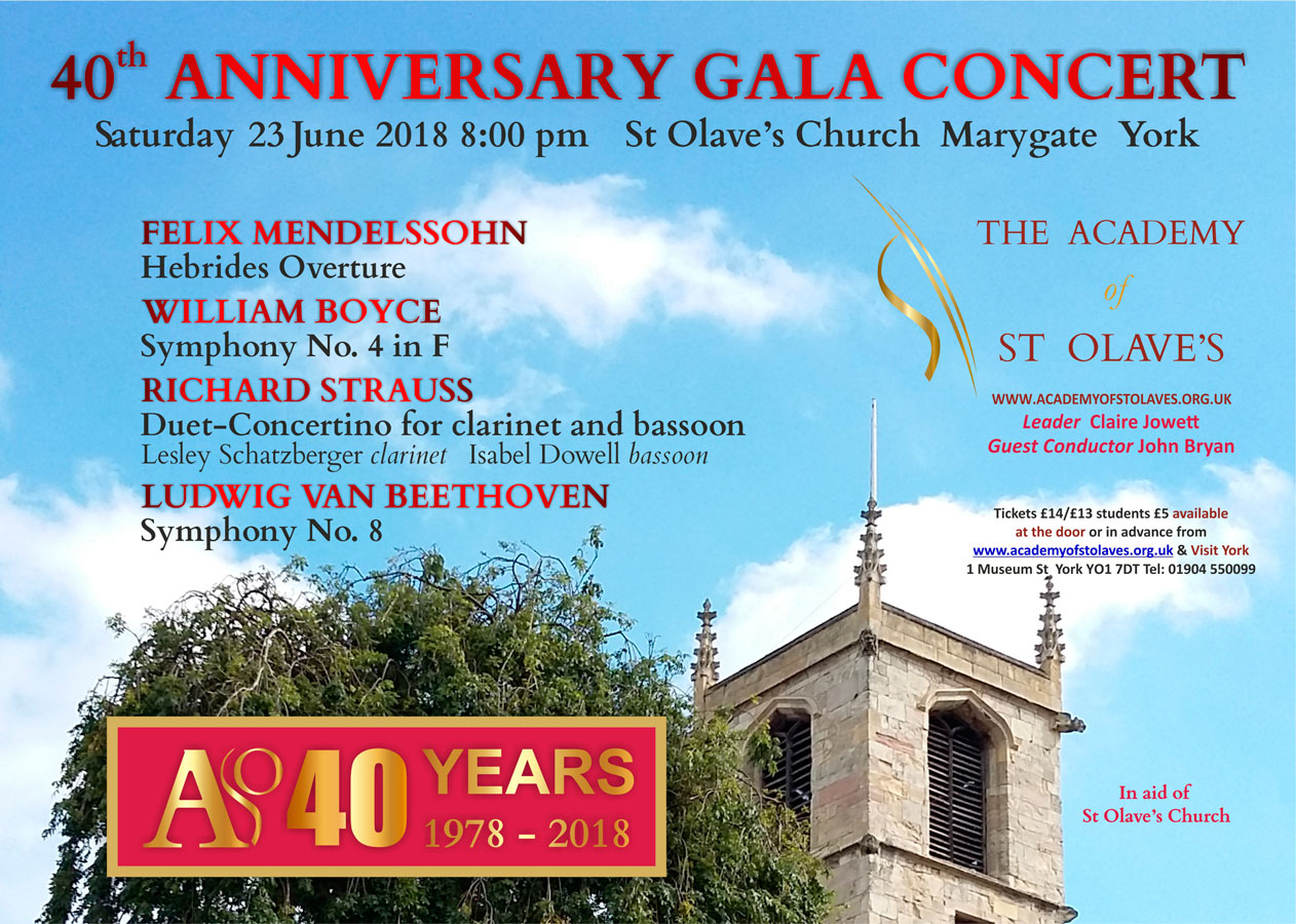 Academy of St Olave's Summer Concert
