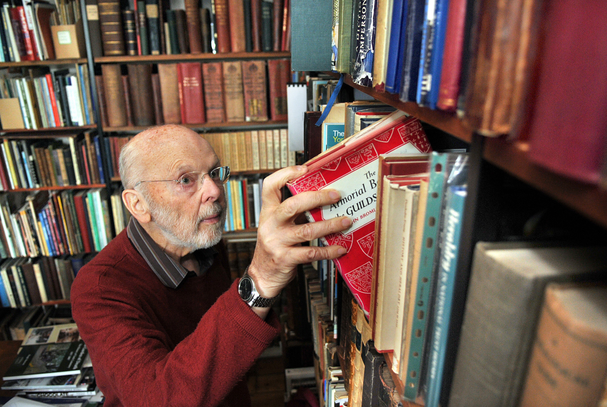 FLASHBACK: York historian Hugh Murray in his library                                                                                                                       Picture: Nigel Holland