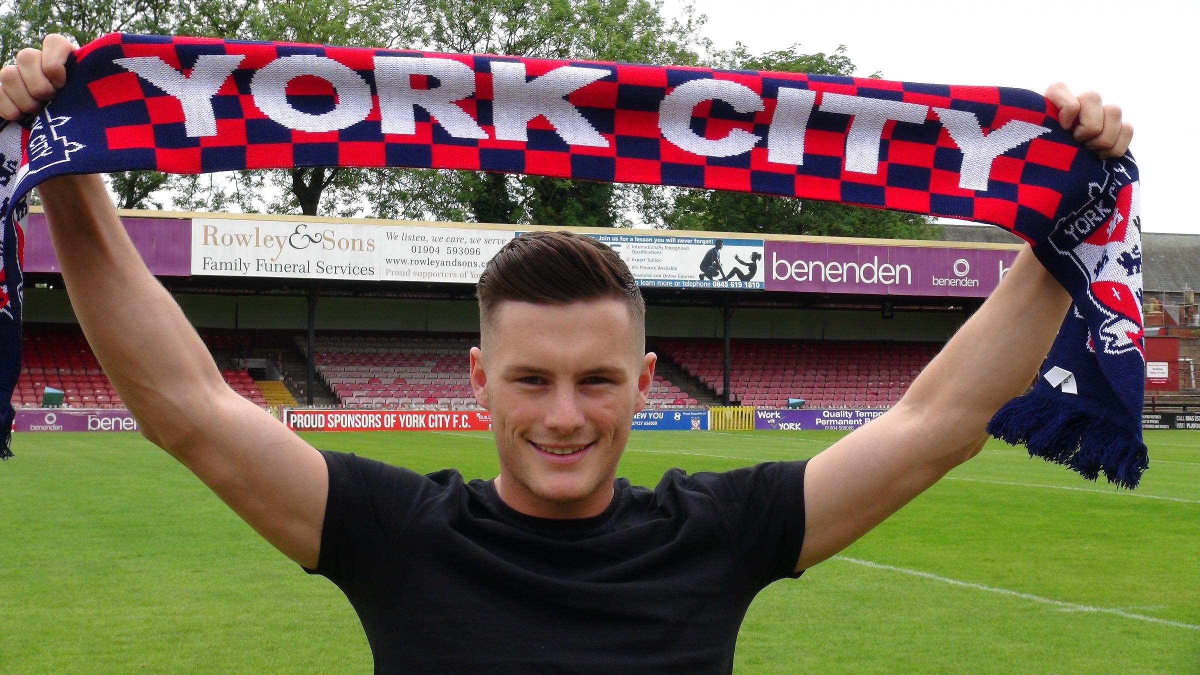 NEW RECRUIT: Macaulay Langstaff. Photo courtesy of York City Football Club