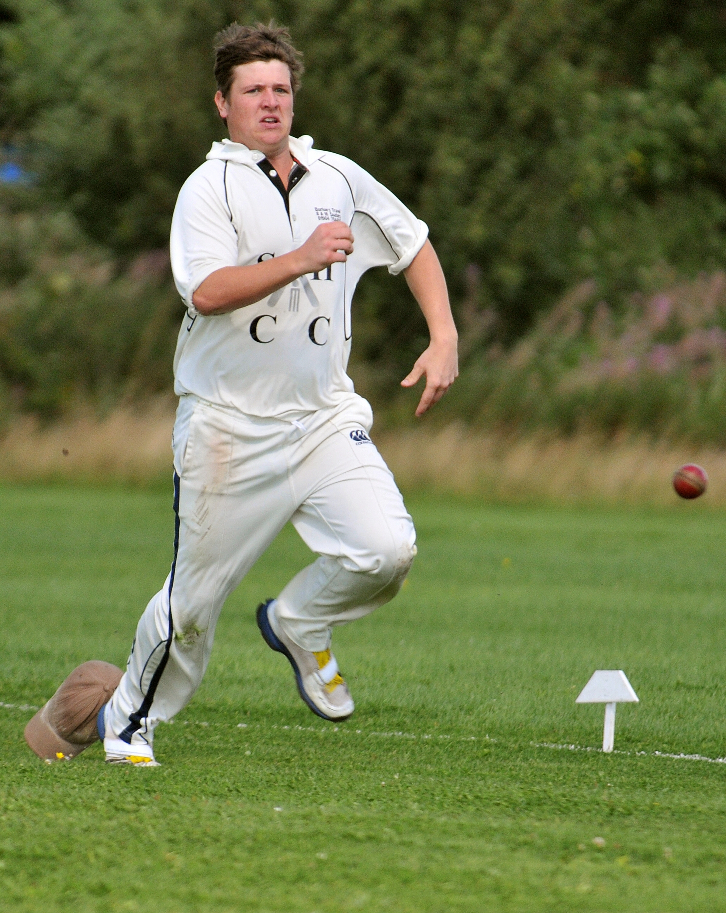 IN THE FIELD: Jamie Kerrison, who took 5-46 as Stockton & Hopgrove enjoyed an 11-run win against Malton & Old Malton in the HPH York Vale League