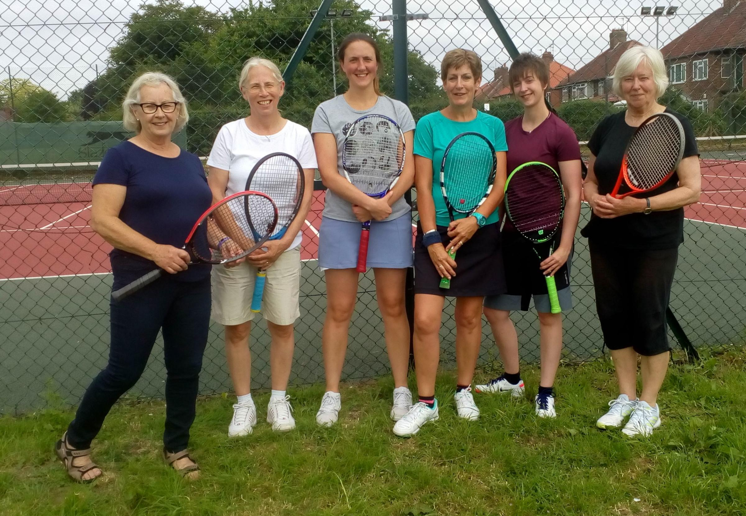FUL OF HOPE: The Fulford second team are doing their best to stay in pursuit of Fulford Ladies Invitational Tennis League third division leaders Dunnington, who are top with a 100 per cent record this season. Pictured from left-to-right for second-placed