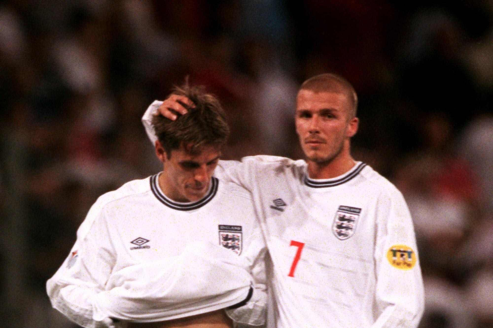 Former defender Phil Neville (left) knows from his experience what the fall-out from an England defeat can be