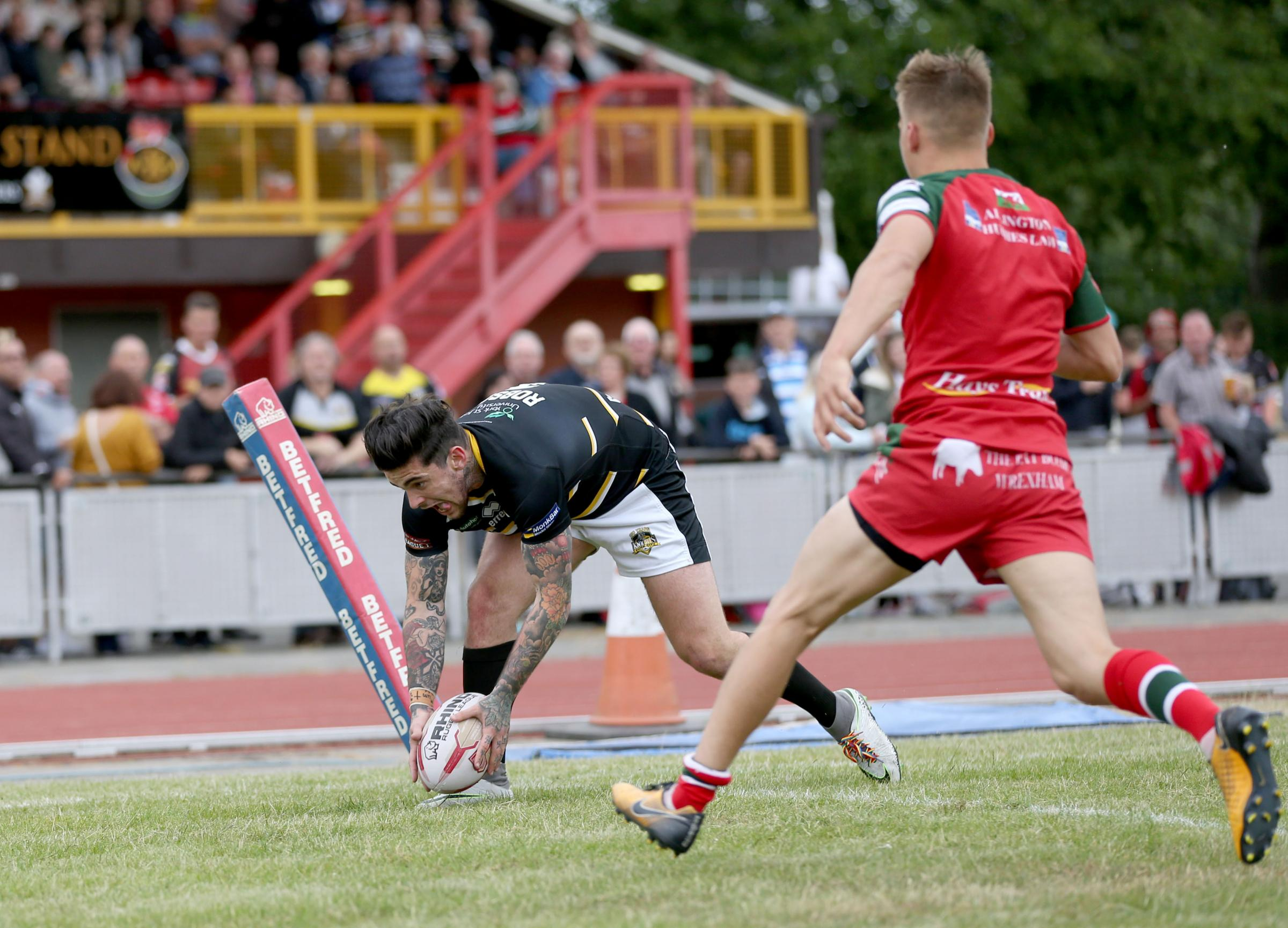 FITNESS TEST: York City Knights try-scorer from last week, Ash Robson, is one of three players injured at North Wales Crusaders who has been named in a provisional 20-man squad who will be assessed before tomorrow's match at Keighley Cougars. Picture:
