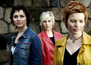 Anna Maria Friman, centre, with fellow band members Andrea Fuglseth and Torunn Østrem Ossum