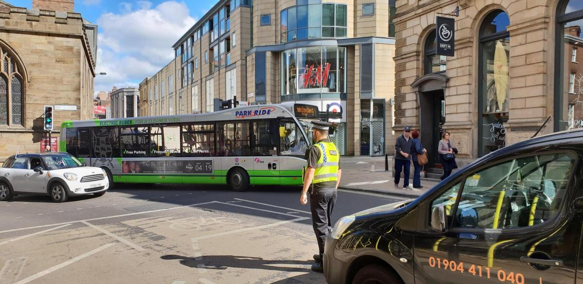 Broken Down Bus Causes Traffic Problems In York Centre