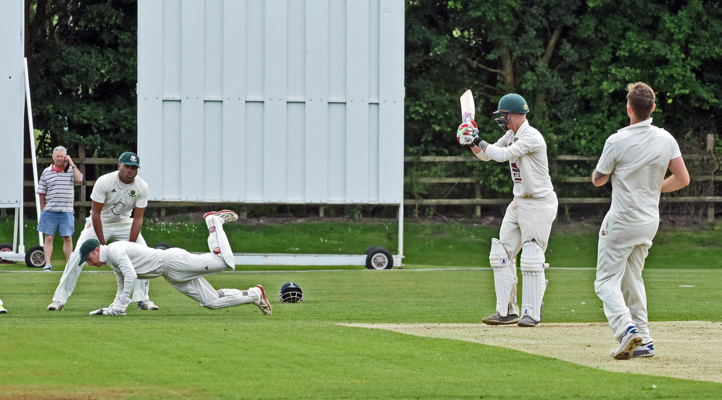 TRIUMPHANT: Batsman Scott Hopkinson, who crashed 118 not out as Clifton Alliance walloped Newburgh to seal the Pilmoor Evening League crown