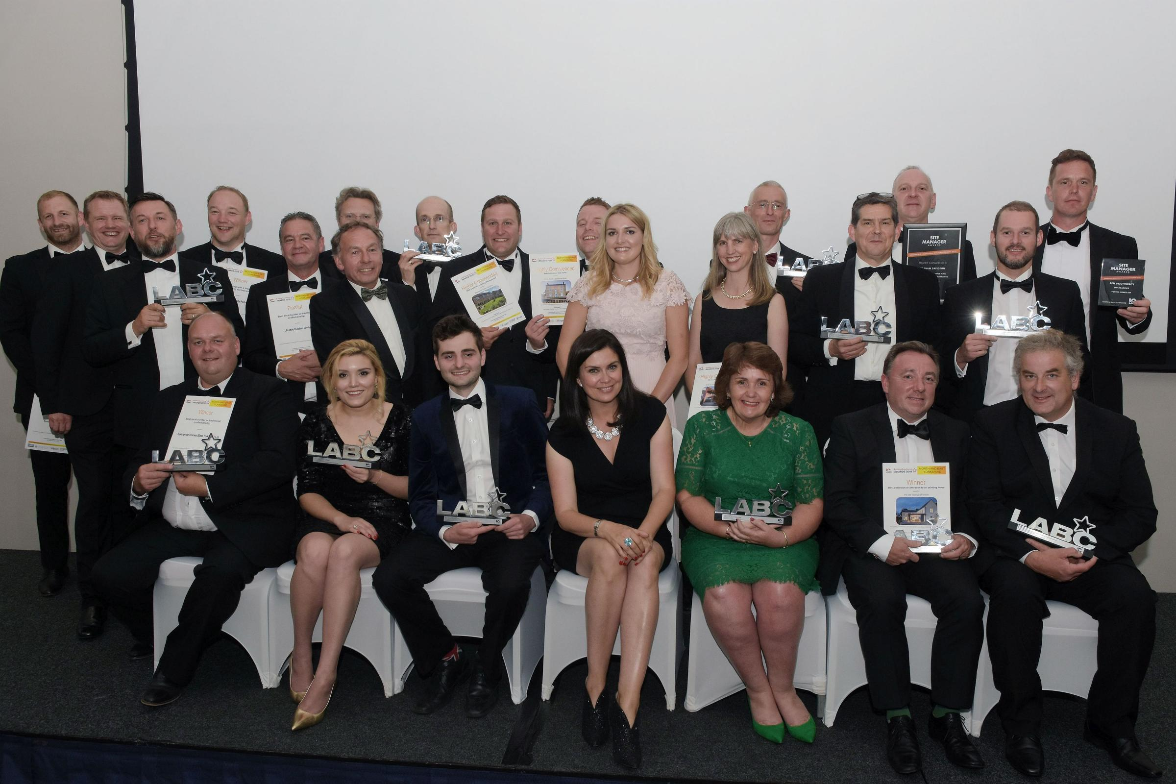The winners from this year's North and East Yorkshire Building Excellence Awards