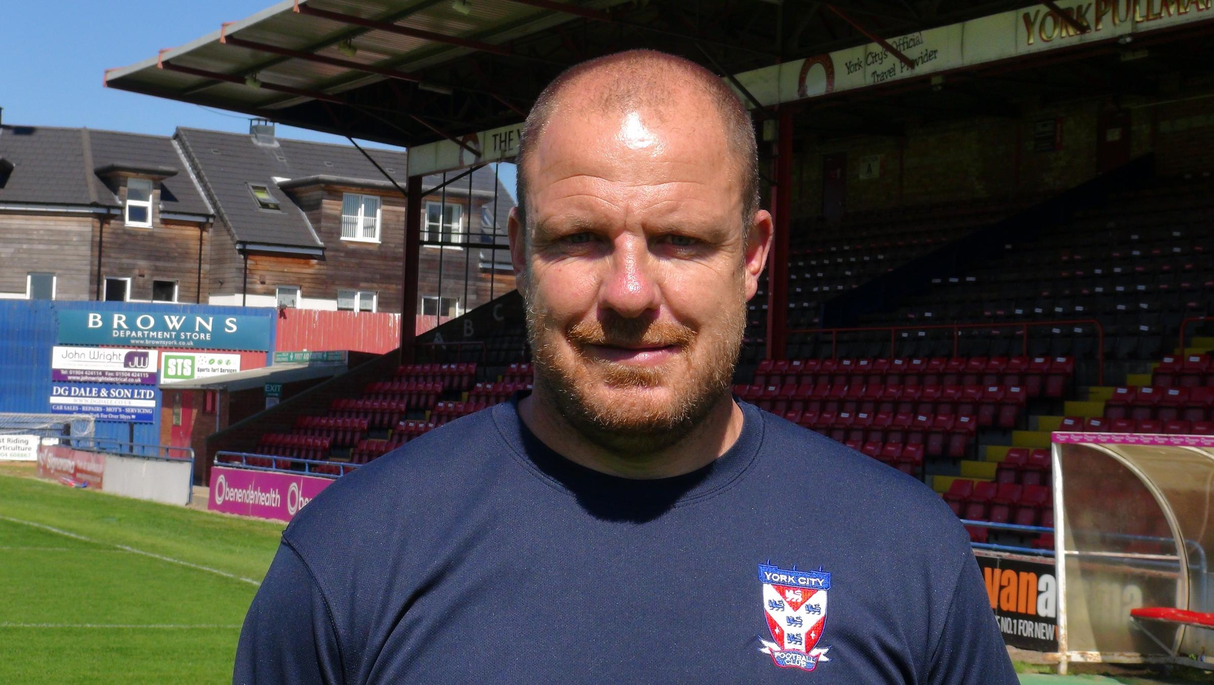 CONFIDENT: Caretaker manager Sam Collins believes his York City team are better than undefeated Kidderminster