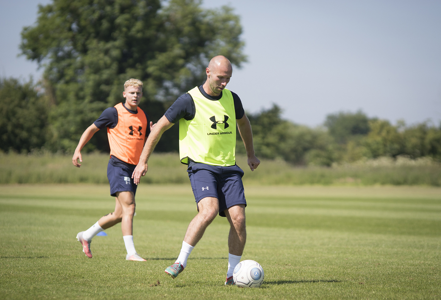 NO HALF MEASURES: Russell Penn and his York City team-mates are all only set to play 45 minutes apiece at Shildon, but manager Martin Gray wants to see signs of what he has worked on already in pre-season