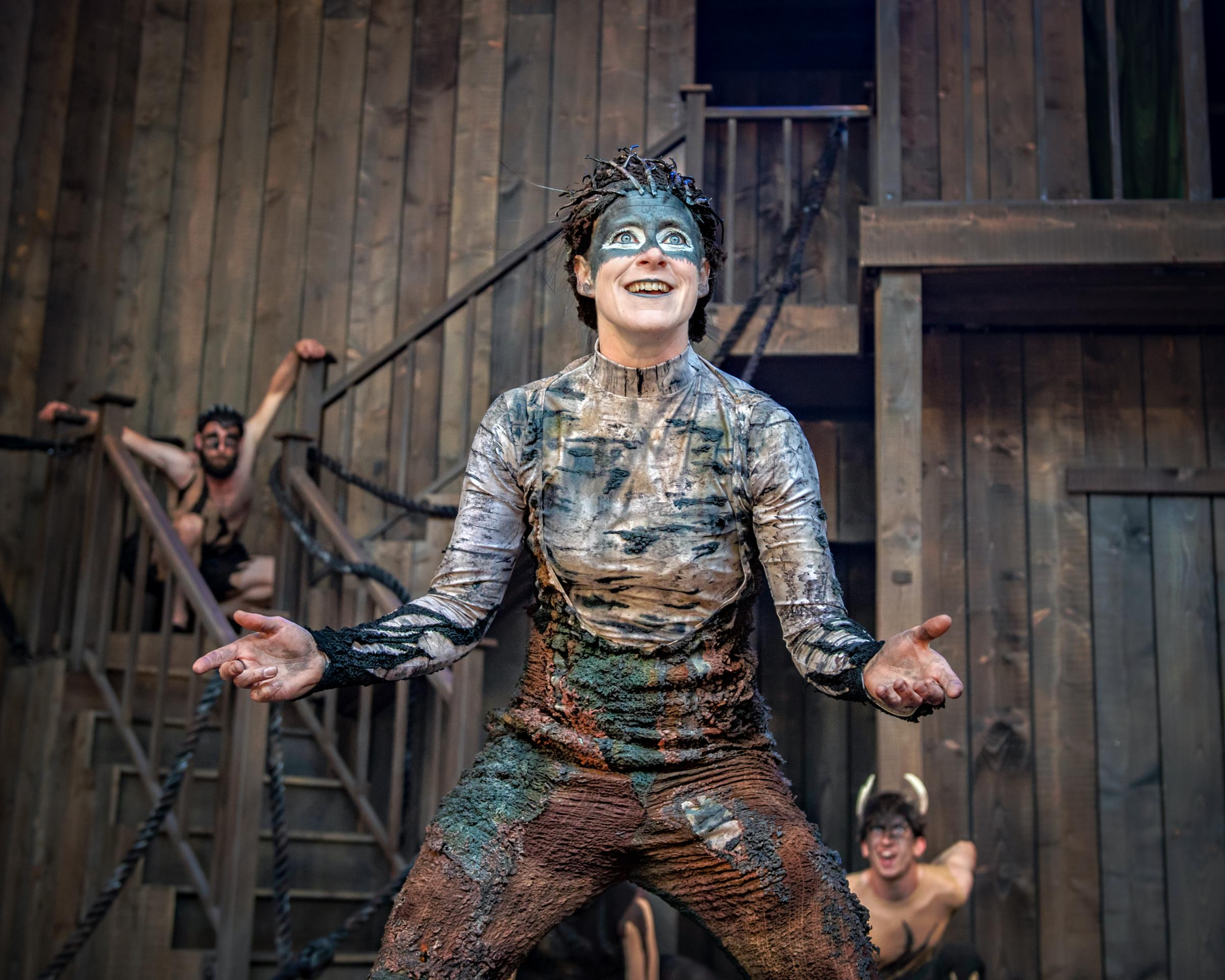 Meddler on the hoof: Clare Corbett's sprightly sprite Puck in A Midsummer Night's Dream. Pictures: Anthony Robling
