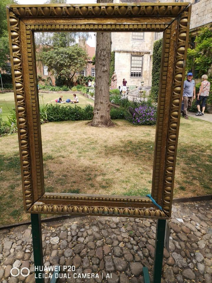 Kevin Wadsworth took this picture within a picture at Treasurer's House in York