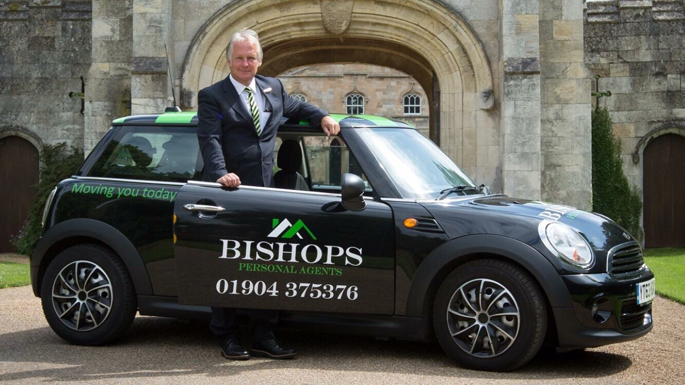 Paul Atkinson celebrating the launch of Bishops Estate Agents