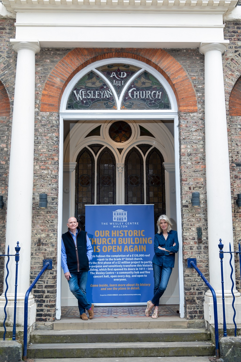 Paul Emberley, Wesley Centre Development Lead, with Selina Scott, who has announced her support for the re-development of Malton Methodist Church Picture: Richard Swaine