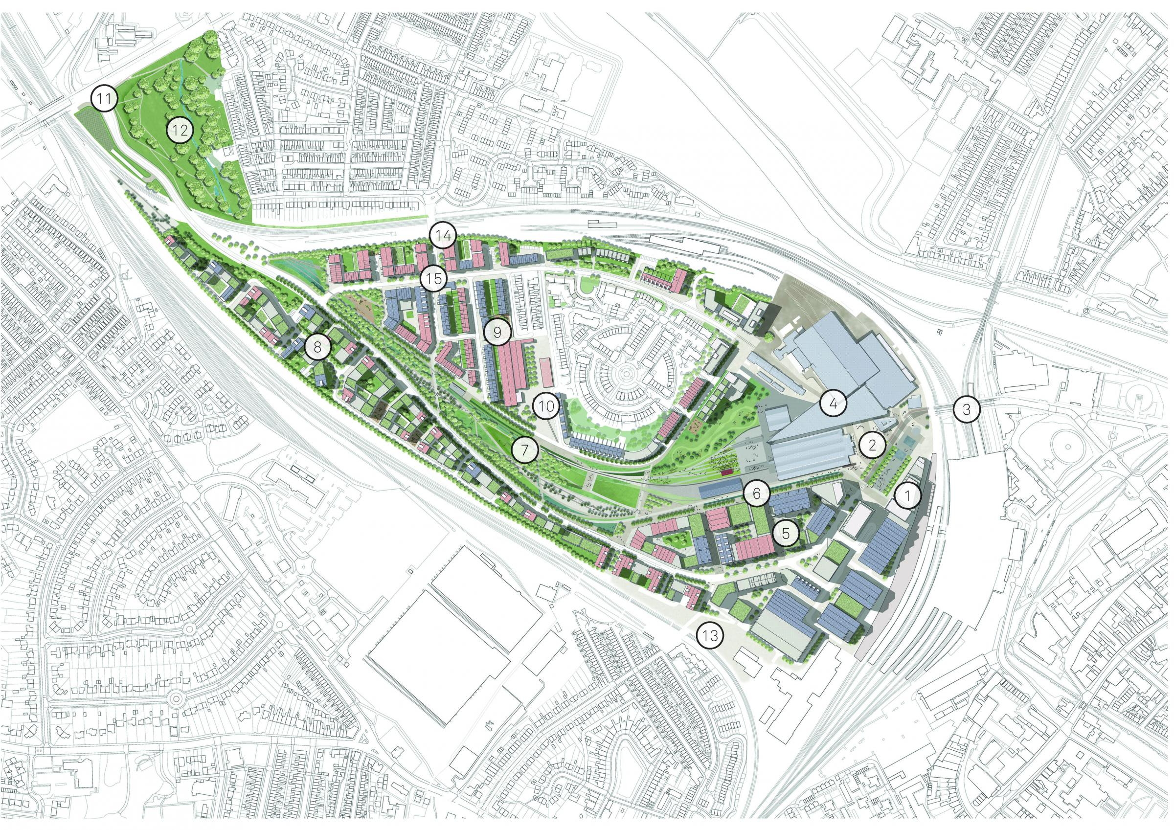 The York Central Masterplan: an illustrative map
