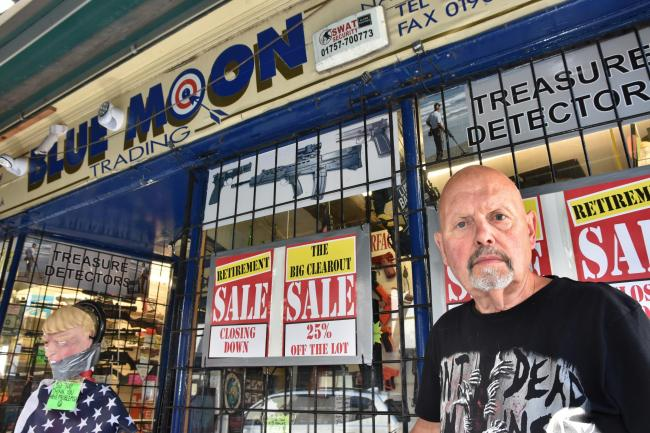 BOWING OUT: Owner Stuart Sykes who is retiring from Blue Moon Trading in Goodramgate   Picture: Frank Dwyer