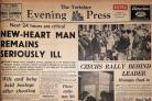 The Yorkshire Evening Press front page from July 27, 1968