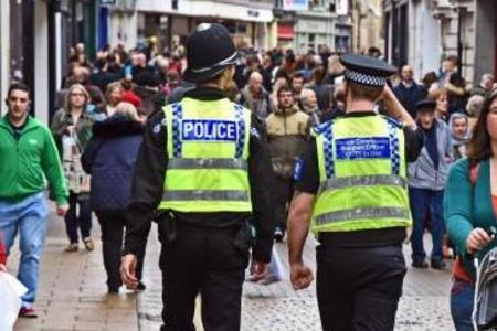 Police out on patrol in York city centre before the lockdown