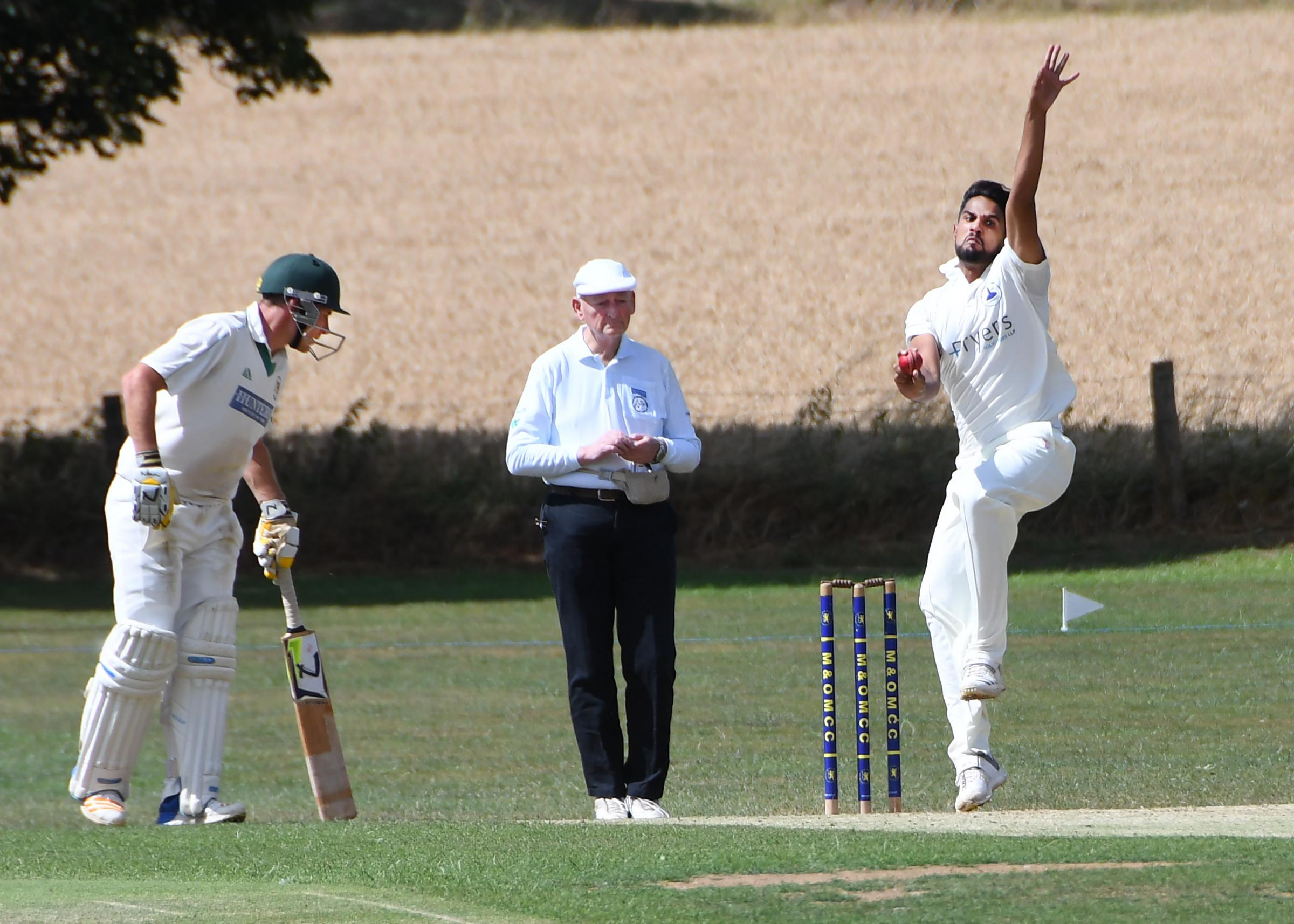 Moin Ashraf has starred in Dunnington's title victory this season, taking 63 wickets at an average of just 13.7 Picture: David Harrison