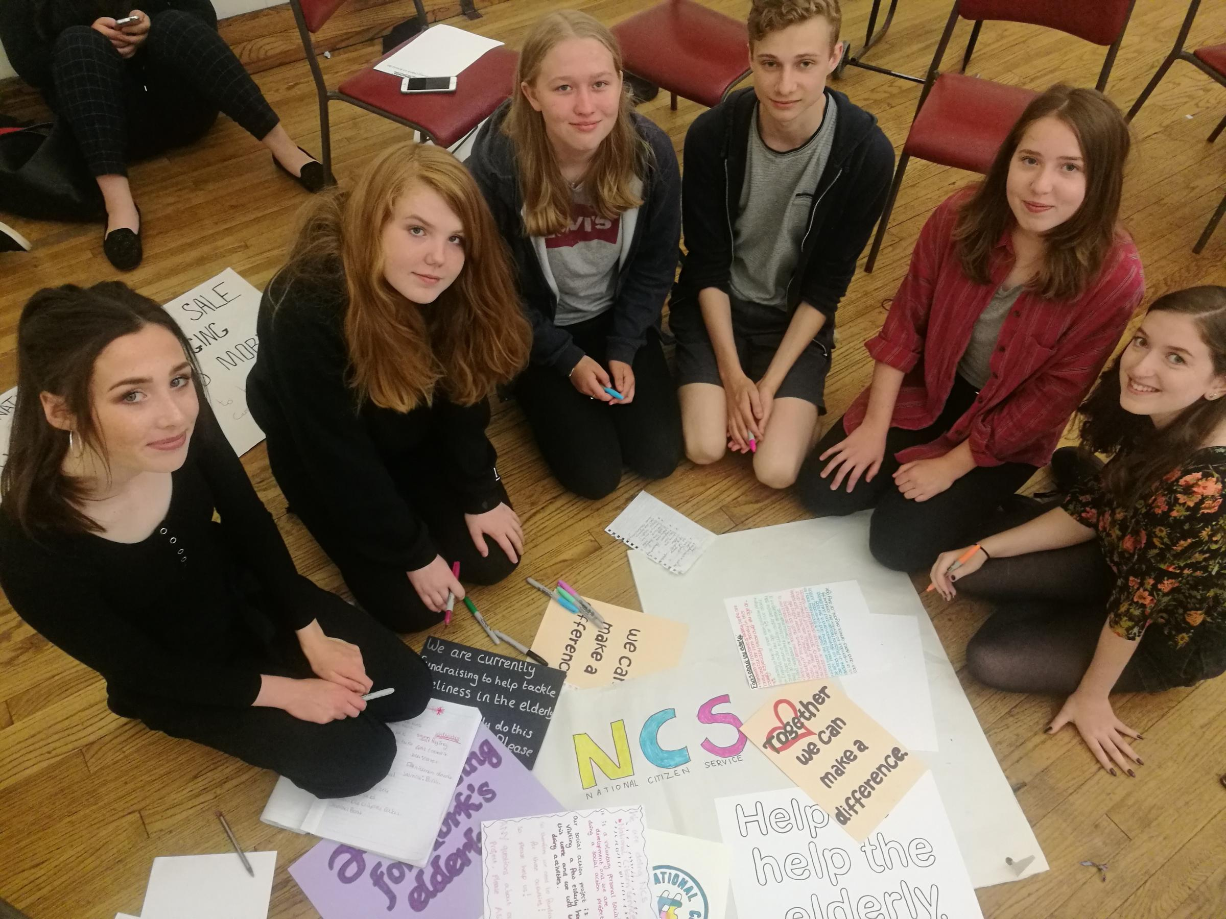 HELPING OUT: York teenagers taking part in a National Citizen Scheme social action project