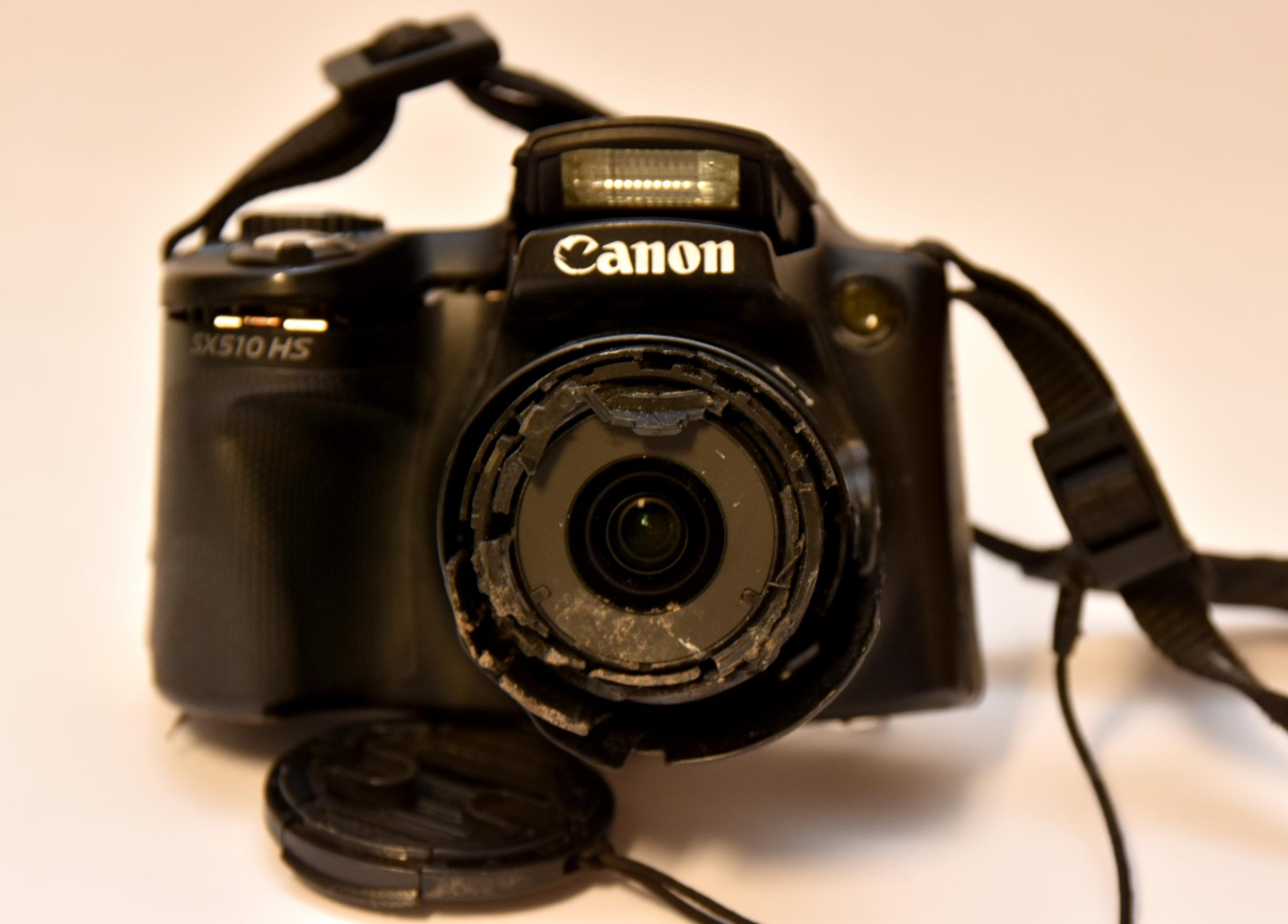 The camera which was found in the gutter of the A64   Picture: Frank Dwyer