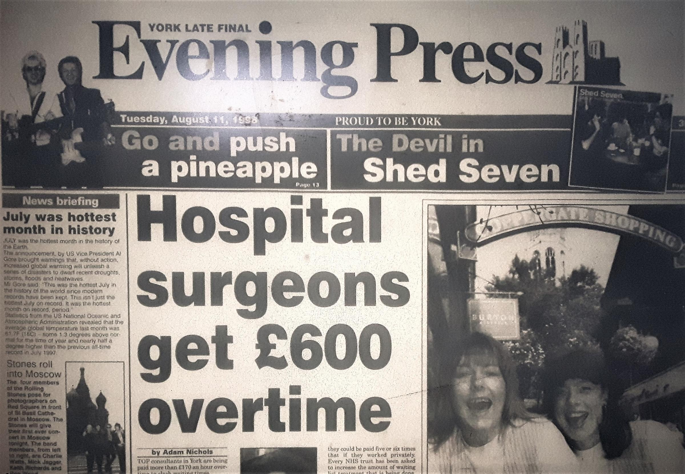 The Evening Press from page from August 11, 1998