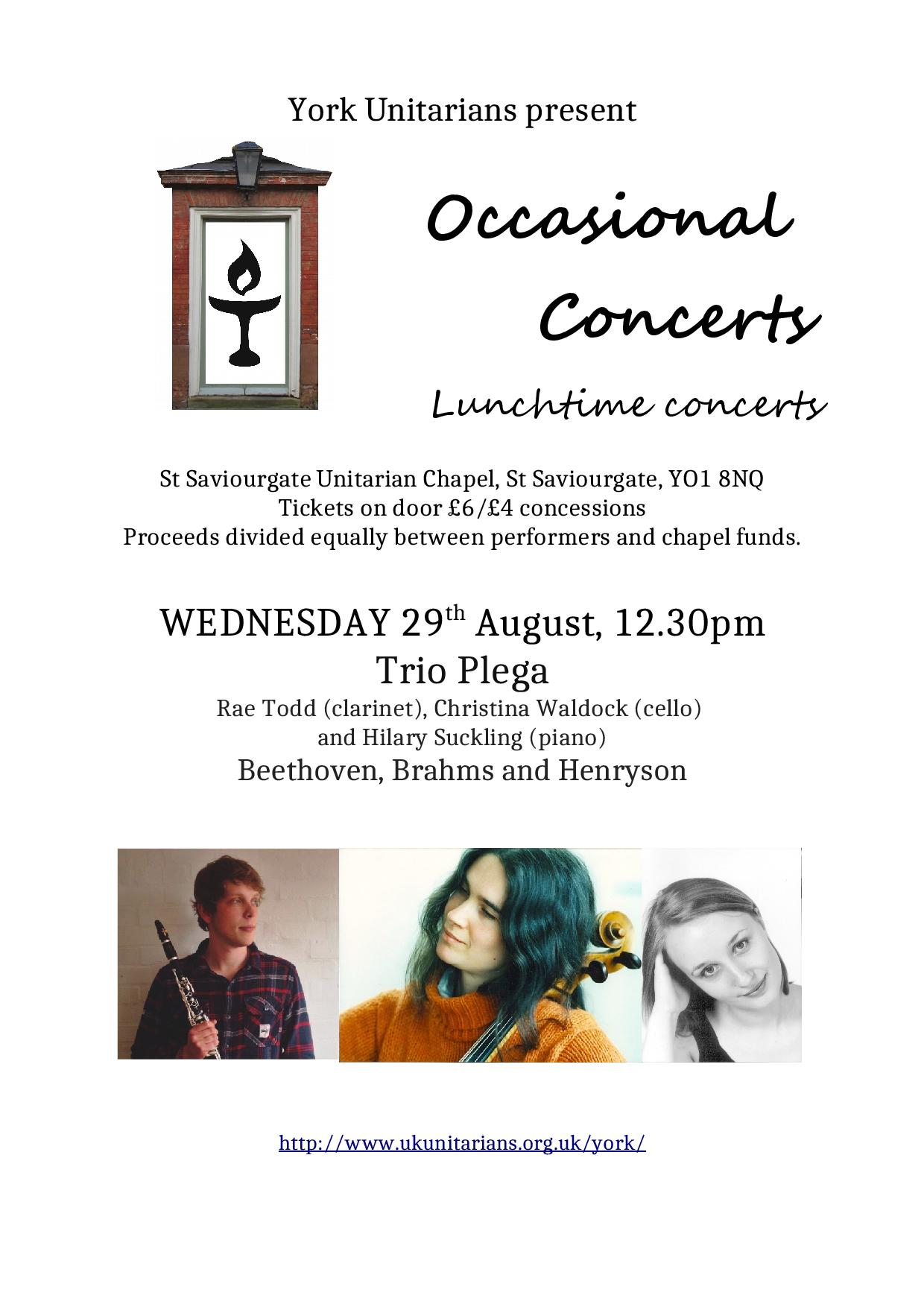 Wednesday lunchtime concert