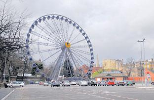 Artist's impression of how the big wheel could look in York's St George's Field car park