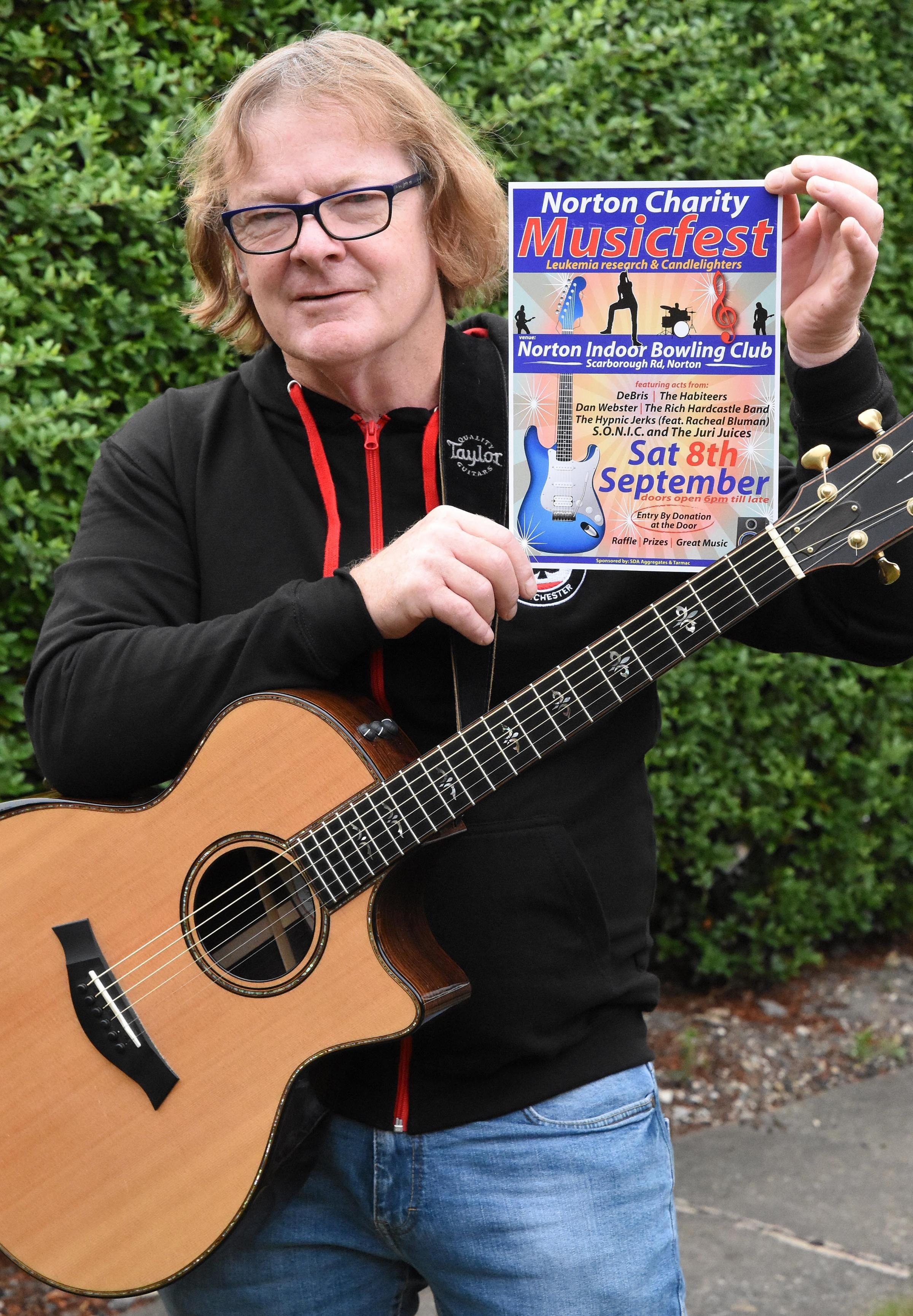 Musician Simon Ashworth, who is organising a charity music night in memory of one of his friends    Picture: Nigel Holland