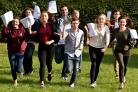 Pupils of Huntington School celebrate their GCSE success  Picture Frank Dwyer.