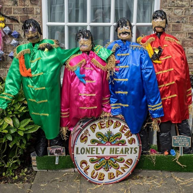 A Beatles scarecrow at last year's Heworth trail  Picture by Friends of Glen Gardens