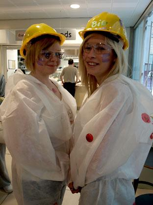 York College travel and tourism students dressed up for Comic Relief