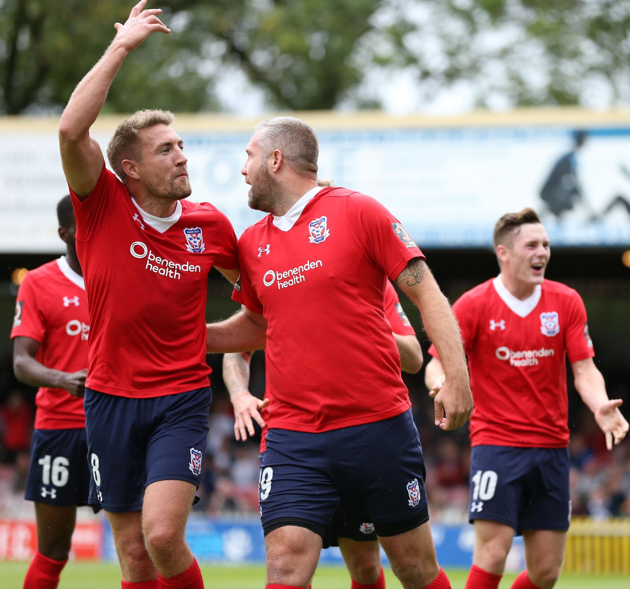 York City's Simon Heslop has been ruled out for eight weeks with a knee injury. Picture: Gordon Clayton