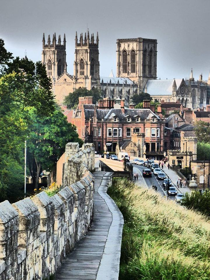 Clare Mortimer took this picture of York Minster and the city walls