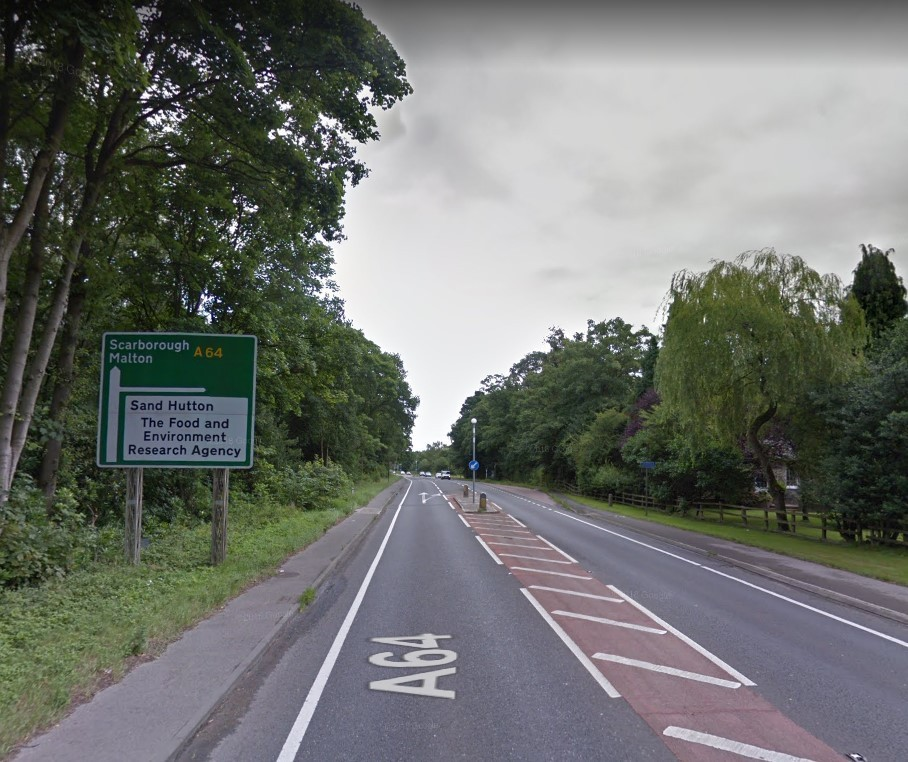The A64 close to Sand Hutton. Picture: Google Maps