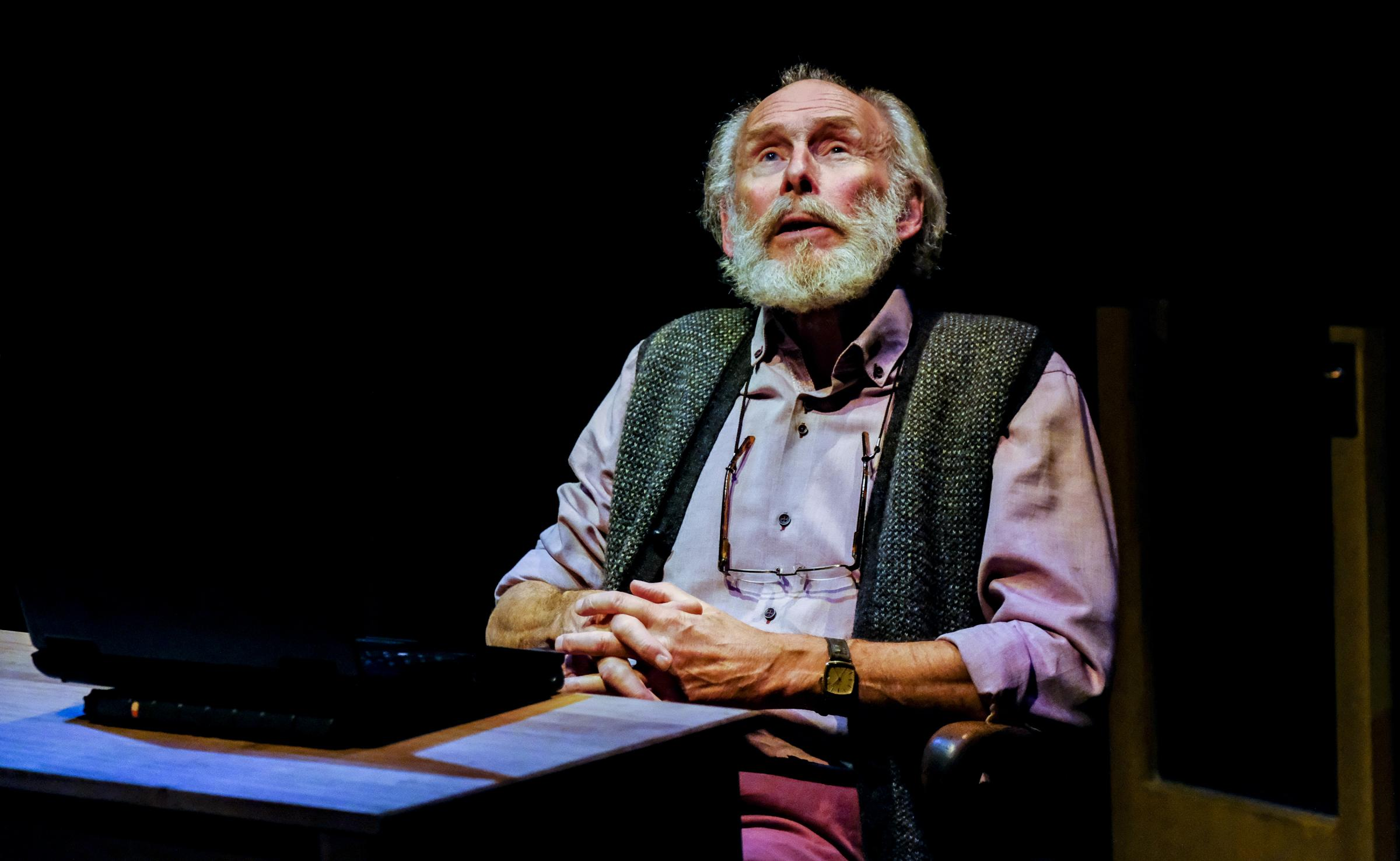 Christopher Godwin as novelist Algy Waterbridge in Alan Ayckbourn's Better Off Dead. Picture: Tony Bartholomew