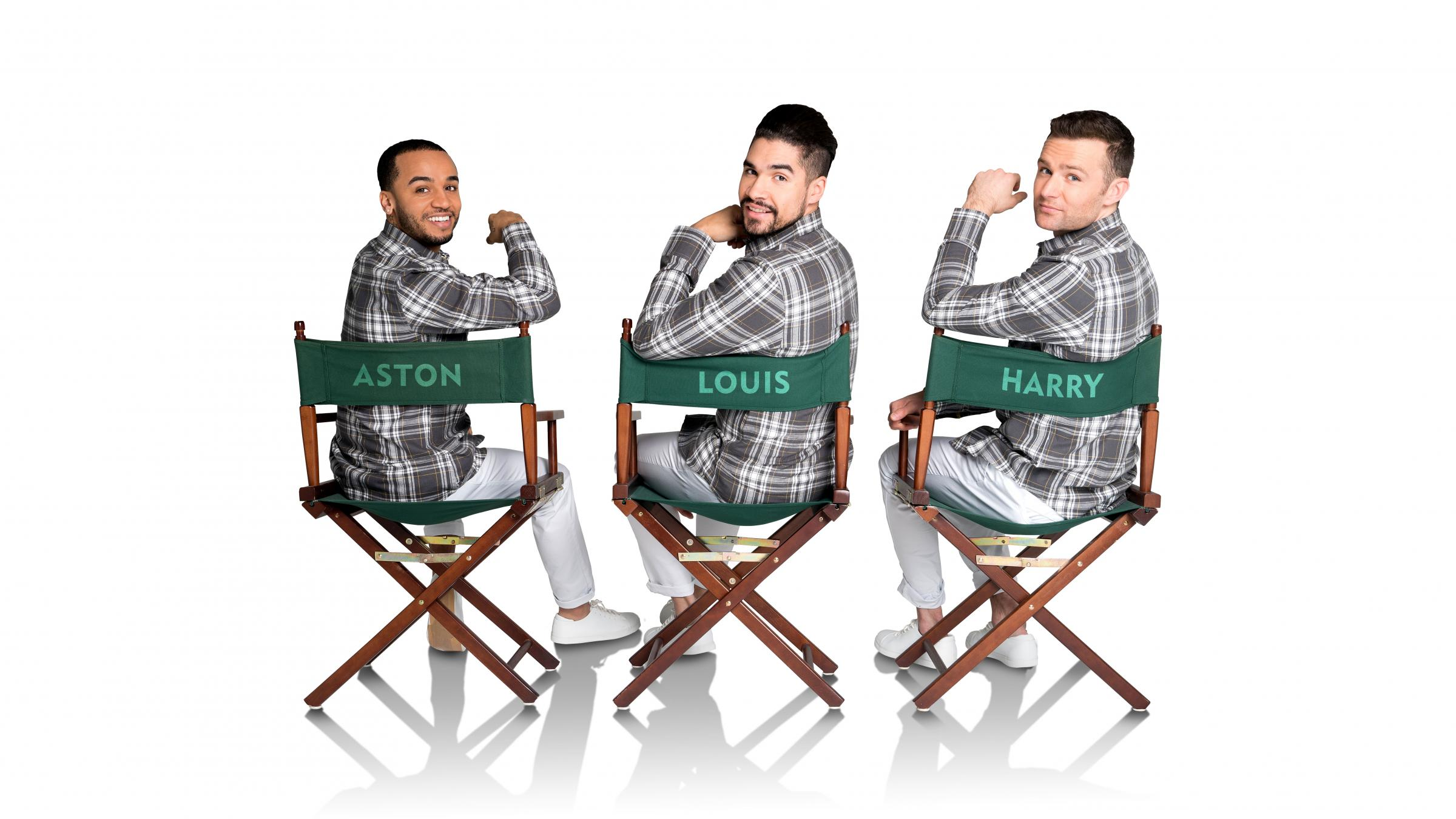 Welcome to the Sixties: Aston Merrygold, Louis Smith and Harry Judd in Rip It Up, on tour at York Barbican