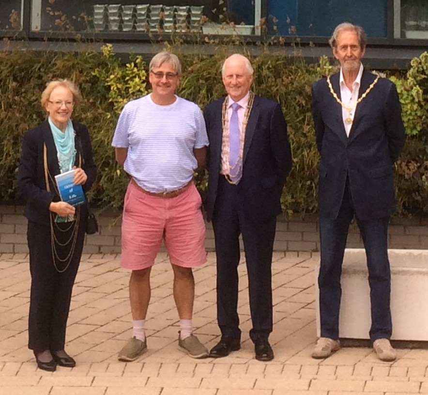 PLASTIC MISUSE: From left, Lady Mayoress, Judith Orrell, with Professor Callum Roberts Lord Mayor, Cllr Keith Orrell and Sheriff's Consort, Professor Colin Campbell.