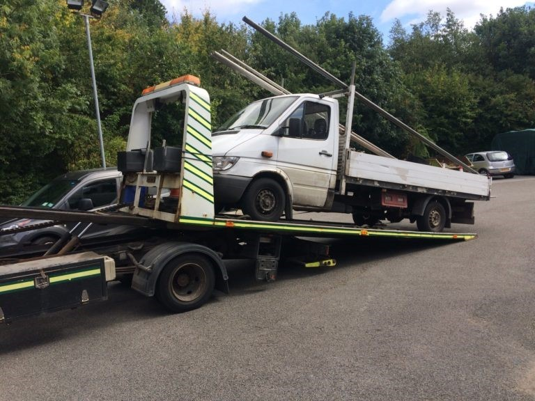 A vehicle removed during the stop and search operation