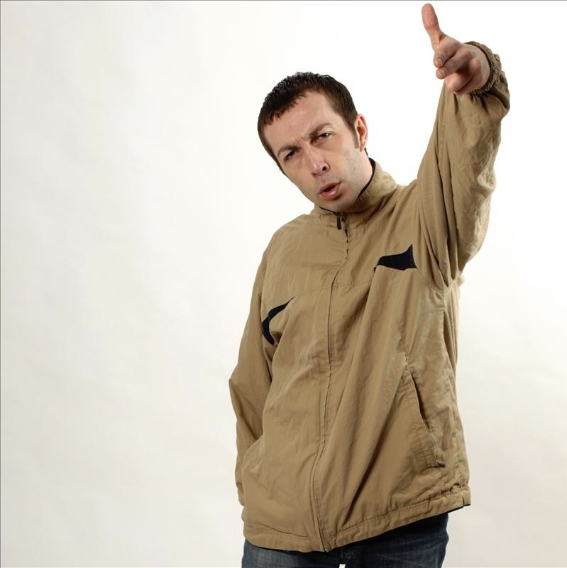Keith Carter in Scouse scally mode as Nige