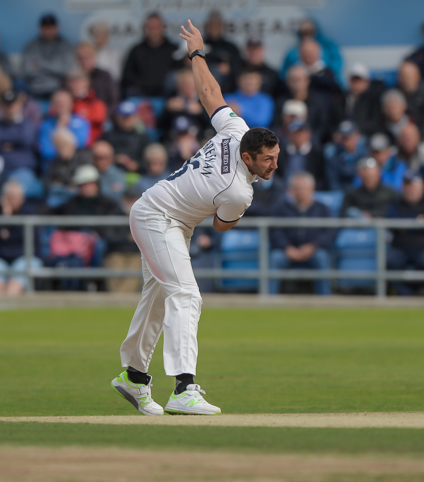 Tim Bresnan claimed five wickets against Hampshire  Picture: RAY SPENCER