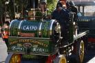 Steam traction engines assemble at York Minster ahead of the Murton Steam Rally over the weekend   Picture: Frank Dwyer.