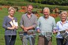 Members of the Rooke family at Beadlam Grange Farm near Pockley who have won another award (left) Angela and Peter Rooke and Mark and Jenny Rooke with their award winning Limousin cattle.Pic Nigel Holland.
