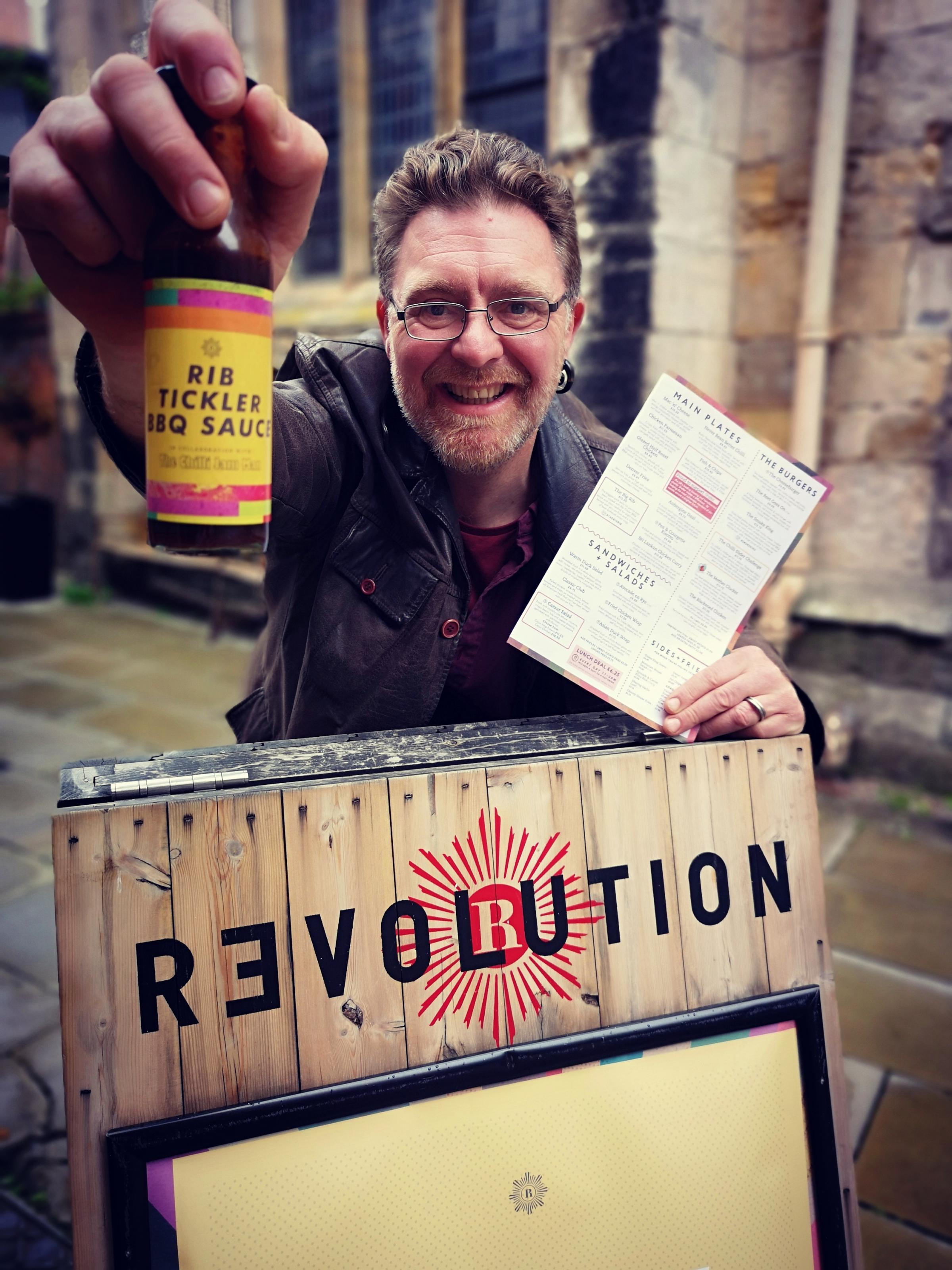 Yorkshire's very own Chilli Jam Man, Simon Barrett, has gone into an exciting collaboration with Revolution Bar