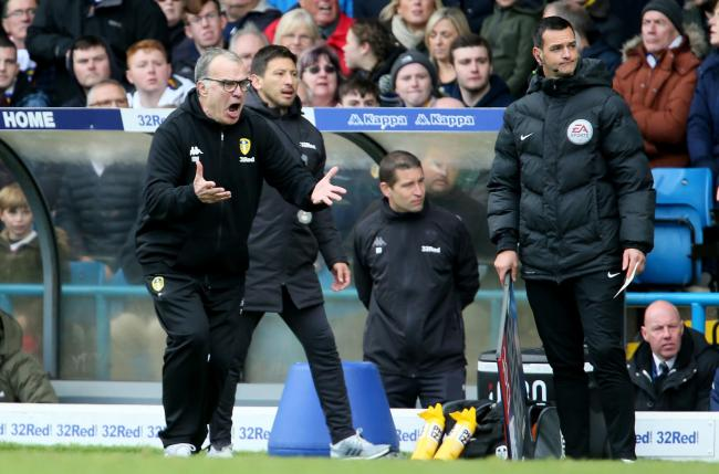 Leeds United manager Marcelo Bielsa reacts during the Sky Bet Championship match at Elland Road, Leeds. PRESS ASSOCIATION Photo. Picture date: Saturday October 6, 2018. See PA story SOCCER Leeds. Photo credit should read: Richard Sellers/PA Wire. RESTRICT