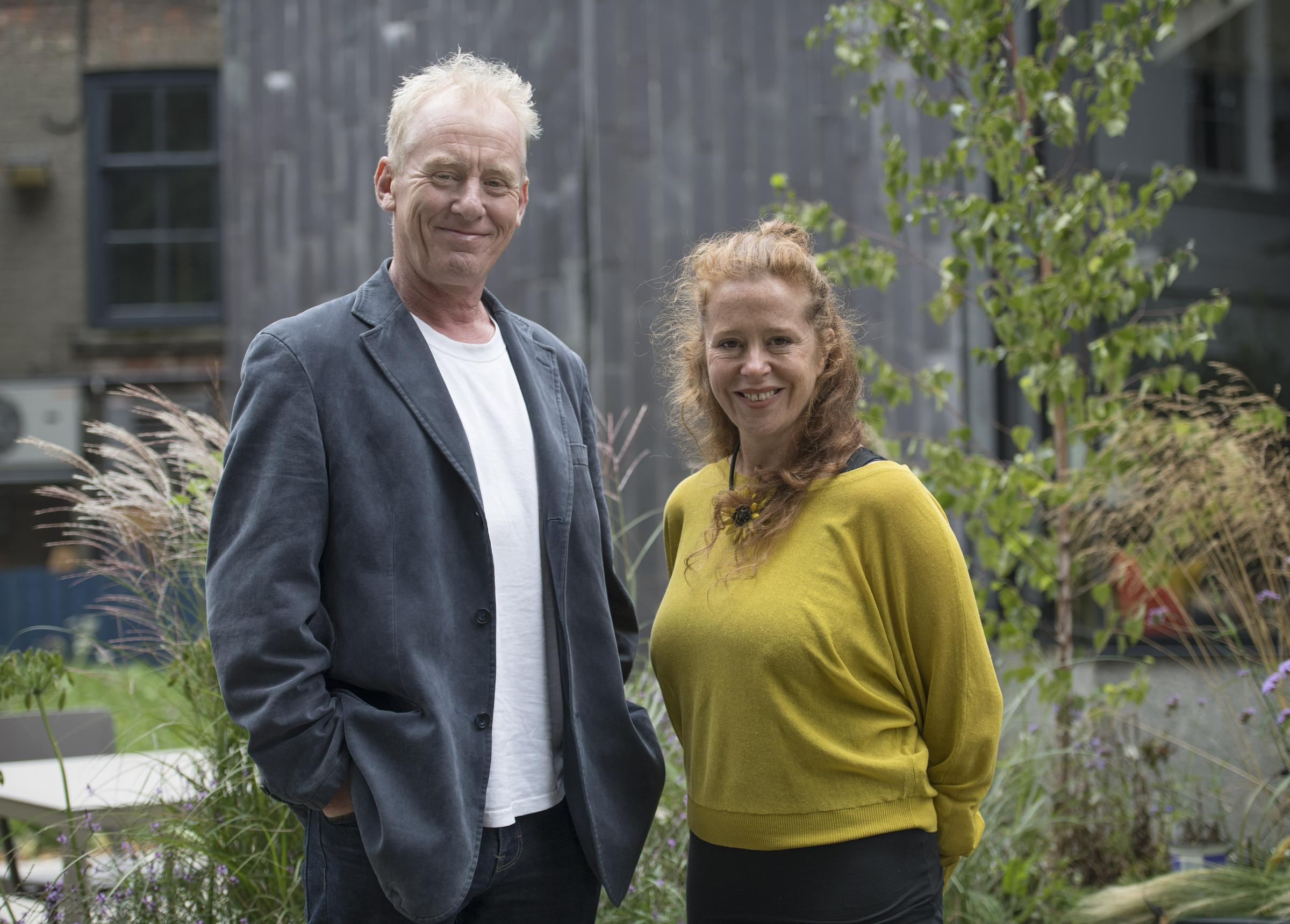 Common cause: They Don't Pay? We Won't Pay cast members Steve Huison and Lisa Howard. Picture: Anna Cowthorpe